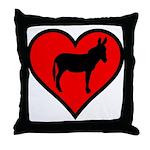 Donkey Love Throw Pillow