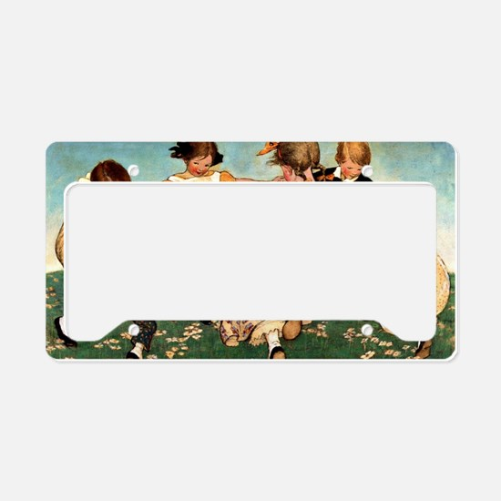 Round the Ring of Roses License Plate Holder