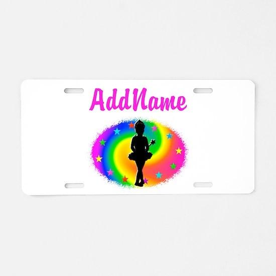 LOVE BALLET Aluminum License Plate