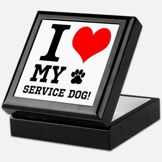 I LOVE MY SERVICE DOG! Keepsake Box