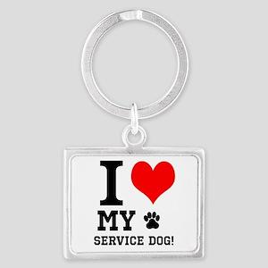 I LOVE MY SERVICE DOG! Keychains