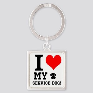 I LOVE MY SERVICE DOG! Keychains