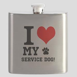 I LOVE MY SERVICE DOG! Flask