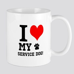 I LOVE MY SERVICE DOG! Mugs