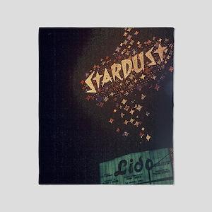 Vintage Stardust Hotel Las Vegas Throw Blanket