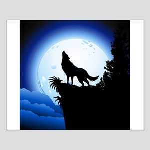 Wolf Howling at Blue Moon Posters