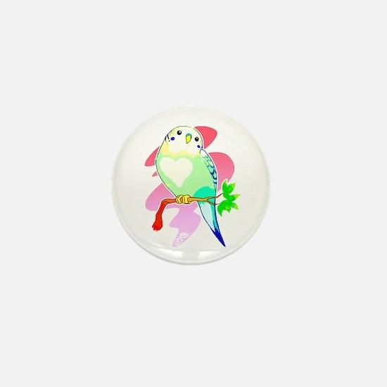 Funny Parakeets Mini Button