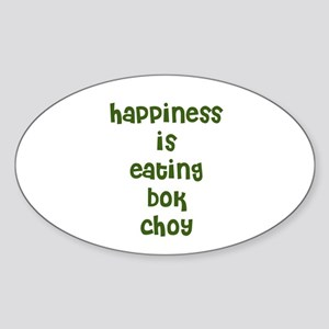 happiness is eating bok choy Oval Sticker