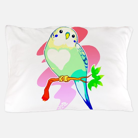 Cute Budgerigars Pillow Case
