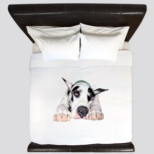 Great Dane Shy Harlequin King Duvet