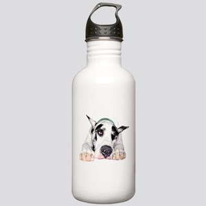 Great Dane Shy Harlequ Stainless Water Bottle 1.0L