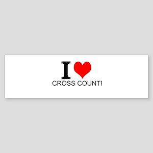 I Love Cross Country Bumper Sticker