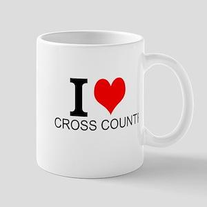 I Love Cross Country Mugs