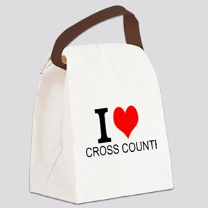 I Love Cross Country Canvas Lunch Bag