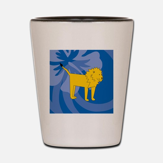 Funny Lion pictures Shot Glass
