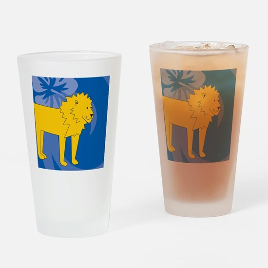 Cool Laura lion Drinking Glass