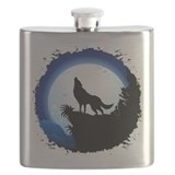 Black wolf Flask Bottles