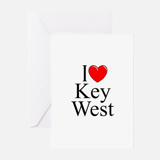 """""""I Love Key West"""" Greeting Cards (Pk of 10)"""
