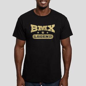 BMX Legend Men's Fitted T-Shirt (dark)
