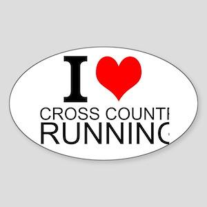 I Love Cross Country Running Sticker