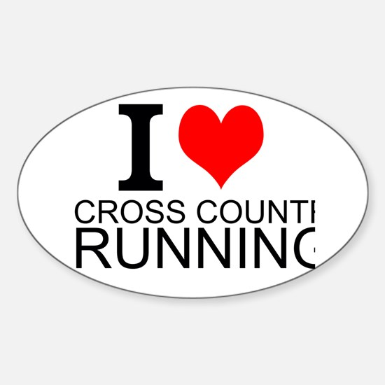 I Love Cross Country Running Decal