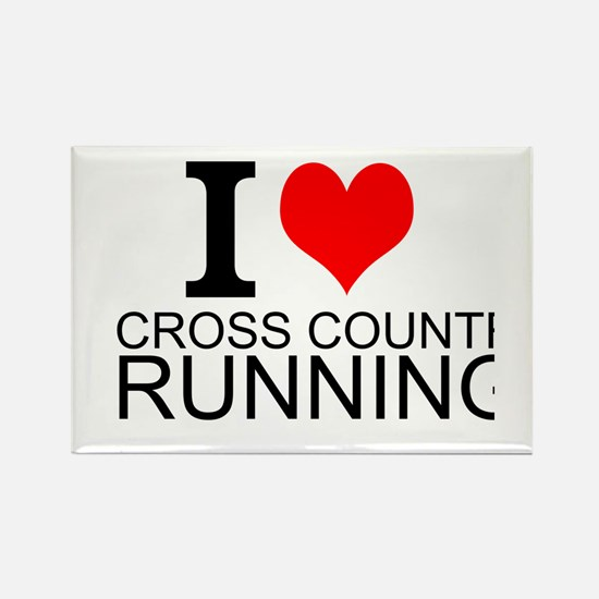 I Love Cross Country Running Magnets