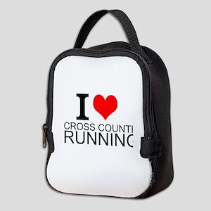 I Love Cross Country Running Neoprene Lunch Bag