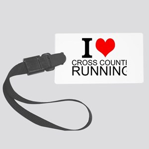 I Love Cross Country Running Luggage Tag