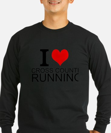 I Love Cross Country Running Long Sleeve T-Shirt