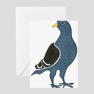 Fashionista Pigeon copy Greeting Cards