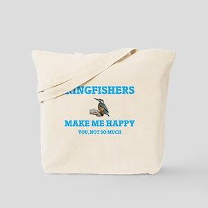 Kingfishers Make Me Happy Tote Bag