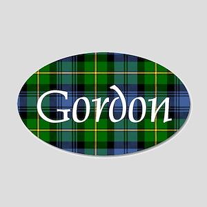 Tartan - Gordon 20x12 Oval Wall Decal