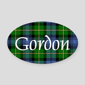 Tartan - Gordon Oval Car Magnet