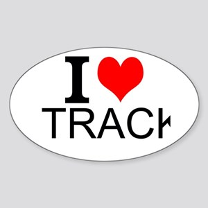 I Love Track Sticker