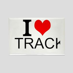 I Love Track Magnets