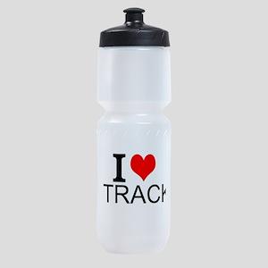 I Love Track Sports Bottle