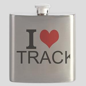 I Love Track Flask