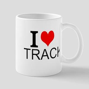 I Love Track Mugs