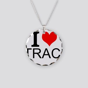 I Love Track Necklace