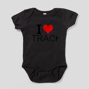 I Love Track Baby Bodysuit