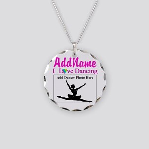 DANCING PHOTO Necklace Circle Charm