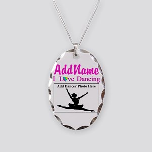 DANCING PHOTO Necklace Oval Charm