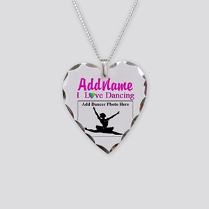 DANCING PHOTO Necklace Heart Charm
