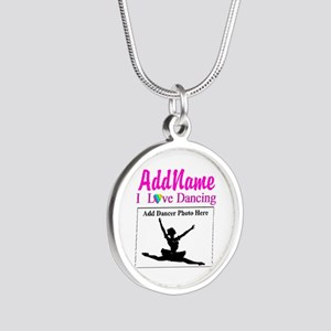 DANCING PHOTO Silver Round Necklace