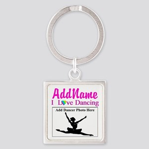 DANCING PHOTO Square Keychain