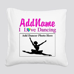 DANCING PHOTO Square Canvas Pillow