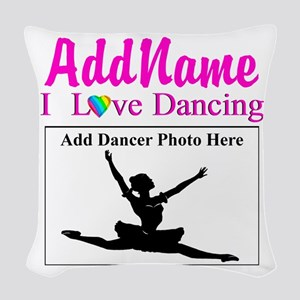 DANCING PHOTO Woven Throw Pillow