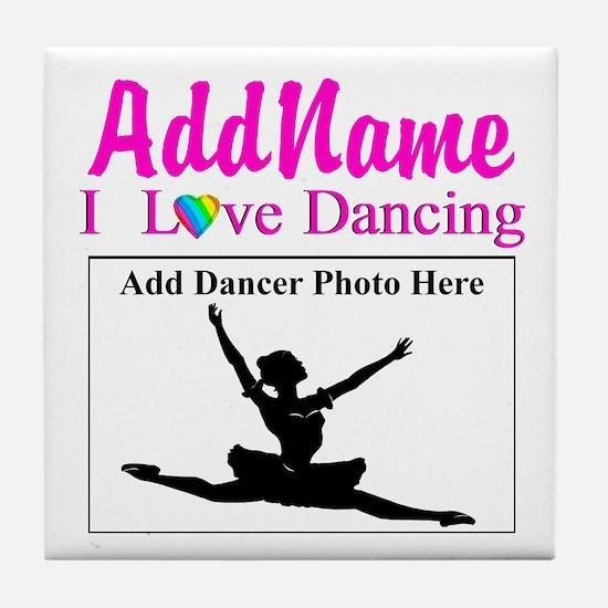 DANCING PHOTO Tile Coaster