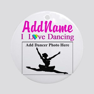 DANCING PHOTO Ornament (Round)