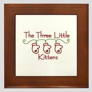 Three Little Kittens Framed Tile